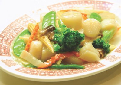 Scallops with Assorted Vegetables