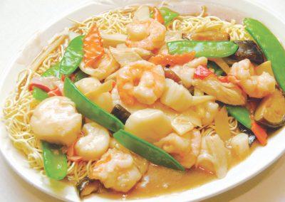 Seafood Pan Fried Noodles